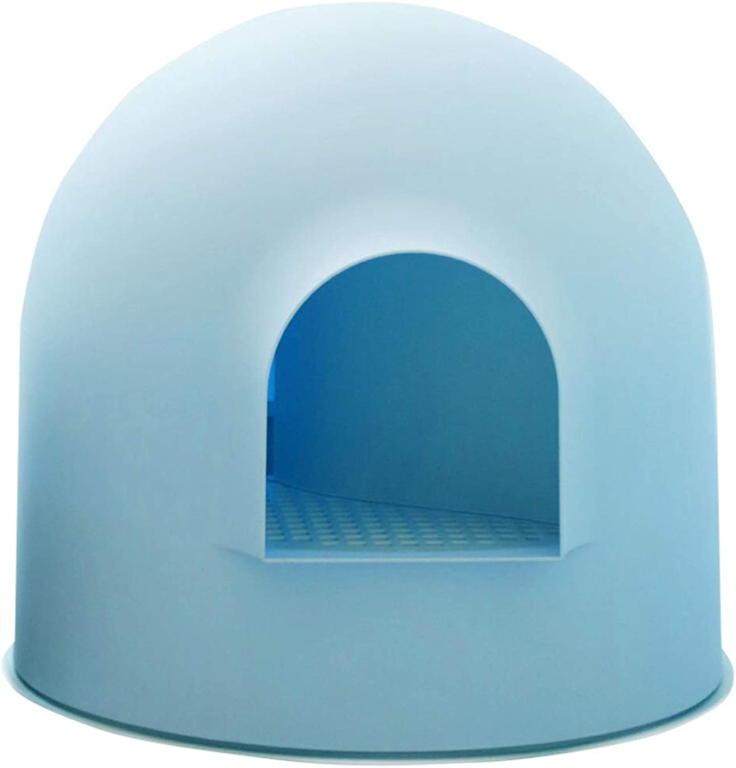 Mei Xu Cat Dog Litter- Pet Toilet Safe odorless Material Fully Enclosed Ball Large Space Big Cats Small Cats Small Dogs Universal Easy to Clean 3 colors Pet Supplies (color   bluee)