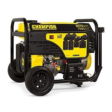Champion 7500-Watt Portable Generator with Electric Start, 100813