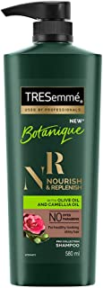 Tresemme Nourish & Replenish Shampoo, With Olive Oil And Camellia Oil, No Dyes No Parabens, Control Frizz For Upto 24Hrs, ...