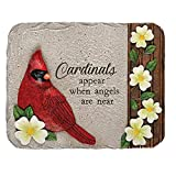 """This garden stone is made of hand-painted resin and features a key-hole hanger in the back. Cardinal Memorial Garden Stone Dimension W: 10.5"""" H: 8.25"""" D: 1.25"""""""