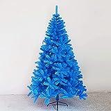 Árbol de Navidad Artificial Árbol de Navidad Artificial Árbol de Navidad de Lujo con Soporte de Metal Plegable Decoración para el hogar (Color: Azul; Tamaño: 7 pies (2,1 m)) (Azul 7 pies (2,1 m)), á