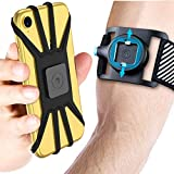 Quick Mount Phone Armband for iPhone 11 Pro Max/Xs Max/XS/XR/X/8 plus/8/7 Plus, Samsung Galaxy S20/S10 Plus/S10/S10e/Note 9/Note 8, Detachable Workout Sports Arm Band, Phone Holder for Running Hiking