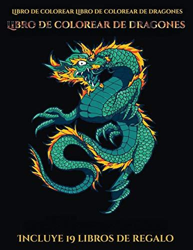 Libro de colorear Libro de colorear de dragones (Libro de colorear de dragones): Este libro contiene 40 láminas para colorear que se pueden usar para ... imprimirse y descargarse en PDF e i (5)