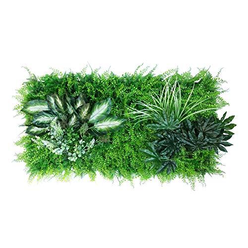 urbanjungle Pflanzenwand (Aussehen und Maße individ. anpassbar) : 0,5m² Matte mit künstlichen Pflanzen – Vertikaler Garten als Wandbegrünung, Sichtschutz am Zaun oder Balkon, Pflanzenbild (D)