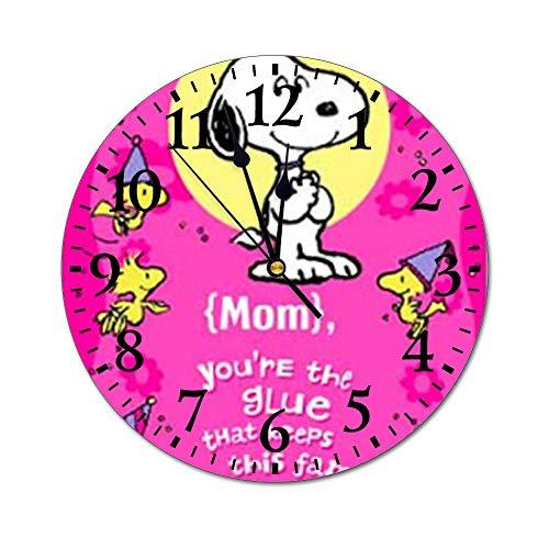 YOKJLDH Snoopy & Woodstock - Reloj de pared de PVC, diseño de Snoopy & Woodstock para decoración del hogar, oficina, escuela
