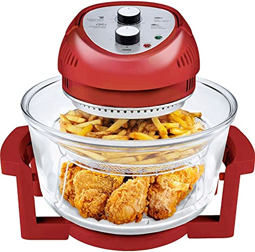 Big Boss Oil-less Air Fryer, 16 Quart, 1300W, Easy Operation with Built in Timer, Dishwasher Safe, Includes 50+ Recipe Book...