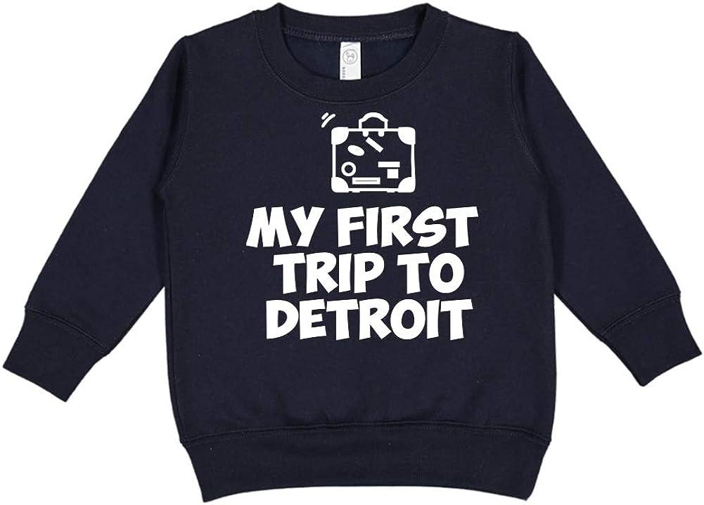 Toddler//Kids Sweatshirt Mashed Clothing My First Trip to Detroit