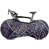 L.BAN Housse de Roue de vélo, protéger Le Pneu d'engrenage - géométrie sacrée Symbole de la cabale Jupiter Pentacle Solomon Sagesse Tendance Moderne
