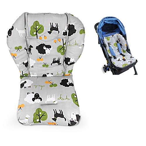 High Chair Pad, Highchair/seat Cushion/Breathable Pad, Soft and Comfortable, Light and Breathable, Cute Patterns, Make The Baby More Comfortable(Grey Background Sheep Pattern)