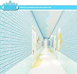 Etiqueta De La Pared Diy 3D Brick Pe Foam Wallpaper Panels Room Decal Stone Decoración En Relieve Azul Claro Extraíble Mural Wallpaper Art Decals