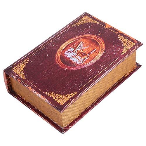 Angoily Caja de Almacenamiento Decorativa Libro Vintage Baratija Vintage Joyero de Recuerdo