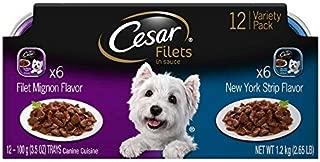 Cesar Gourmet FILETS Variety Pack Filet Mignon & New York Strip Flavor Dog Food