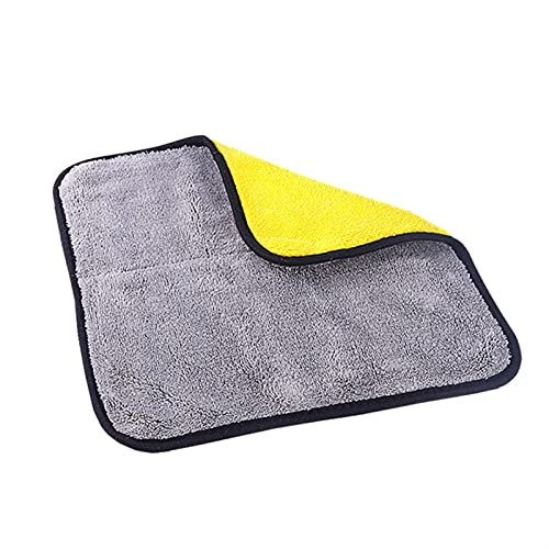 MCYAW Densidad Coche Lavado Toalla Hogar Hogar Hogar Corral Fleece Folleto Toallitas de Coche Grueso Absorbente Multifuncional (Color : Black)