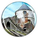 Weekino Montreuil-Sur-Mer Francia The Citadel Imán de Nevera 3D de Cristal de la Ciudad de Viaje Recuerdo Colección de Regalo Fuerte Etiqueta Engomada refrigerador