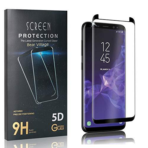 Bear Village Verre Trempé pour Galaxy S9, Dureté 9H Film Protection Écran Vitre pour Samsung Galaxy S9, Anti Rayures Protection en Verre Trempé Écran, 4 Pièces