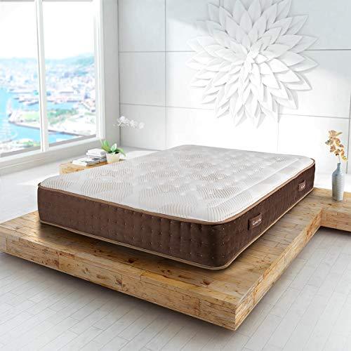 ConfortLas Colchón de muelles ensacados + viscogel Pegasus, 90 x 190 cm