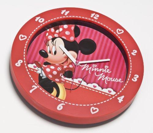 Disney Joy Toy 90011 Minnie Wanduhr aus Kunststoff, Geschenkpackung, 25 cm