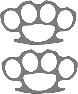 Brass Knuckles (STICKERS) Street Fight (2 PACK) Vinyl Decal (STICKERS) - size: 5