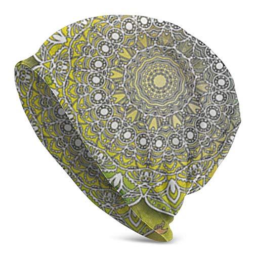 Mystic Asian Mandala Zen Culture Unisex Slouchy Beanie Headwear Adecuado para Todos los Estilos Sombrero de Punto para el Uso Diario
