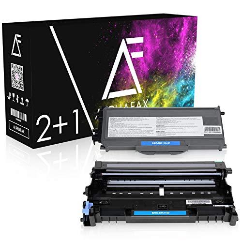 Alphafax 2 Toner mit Trommel kompatibel für Brother TN-2120 DR-2100 DCP-7030 7040 7045 N HL-2140 2150 2170 N NR W WR MFC-7320 7340 7440 7840 W N