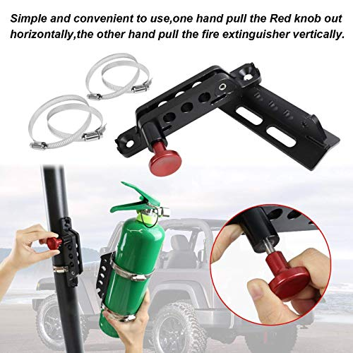 SuLokiy Universal Quick Release Roll Bar Fire Extinguisher Mount bracket Fit For Jeep Wrangler UTV Polaris RZR Ranger Can-Am Maverick ATV