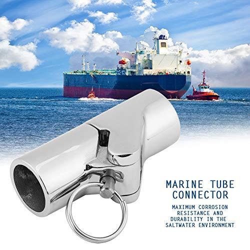 Conector de tubo para barco, conector de tubo marino, conector de tubo marino, mástiles de 180 grados plegados hacia abajo, toldos bimini para toldos plegables,(25mm caliber)