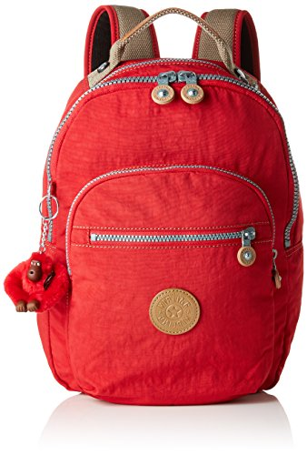 Kipling CLAS SEOUL S Mochila con Compartimento para Tableta, 10 litros, Rojo (True Red C)