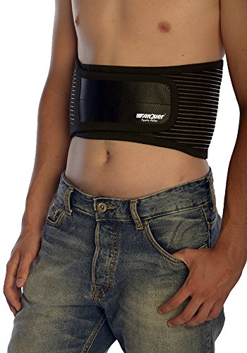 Arquer Black Rückenbandage Basic LINE–Kurze und atmungsaktiv, Schwarz, Unisex, Black Basic Line, schwarz, Medium