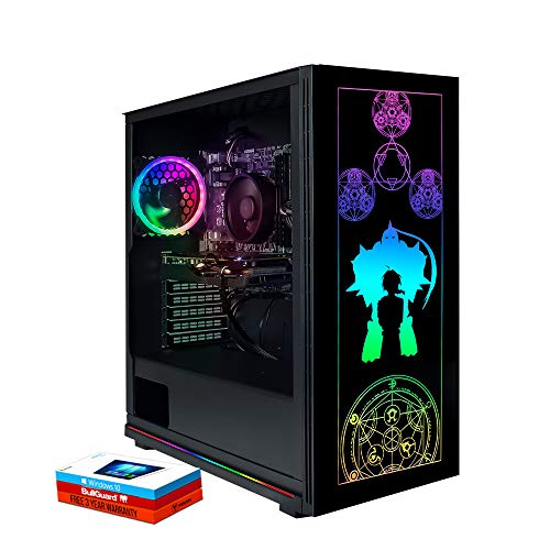 Fierce Phantom High-End RGB Gaming PC - Schnell 4.7GHz 16 AMD Ryzen 9 3950X, 480GB M.2 Solid State Drive, 16GB 3000MHz, NVIDIA GeForce RTX 2080 Ti 11GB, Windows 10 installiert 1139425