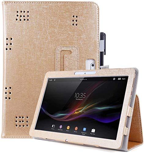 KATUMO Funda para BQ Aquaris M10 Tablet Funda para Lnmbbs 10 Pulgadas Funda Tablet para Alcatel 10.1 Universal Tableta Funda Cuero con S Pen Pot