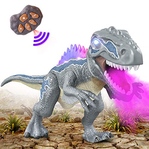 DAOKEY Dinosaur Remote Control Toy for Kids, T Rex Dinosaur Toys Walking Led Light Up Roar Realistic Simulation Sound Noise, Big Robot Dinosaurs Toys for Child Girl Boys 3 4 5 7 8 12