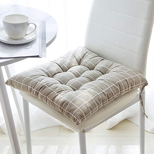 Souarts Zitkussen, stoelkussen, zitkussen, stoelkussen met 4 koorden voor een veilige grip