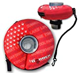 RED Large - Human Bobber Inflatable Floating Drink Holder – Beverage Bobber Drink Float for Tumblers, Yeti, Tervis, or Wine Bottle in The Hot Tub, Pool or Boat (Large Size for 16oz to 30oz Tumblers)