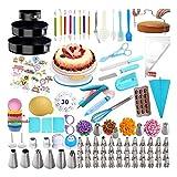 375 piezas para decorar pasteles, herramientas para hornear en crema, raspador decorativo, moldes para tartas, chocolate, bandera de harina, hornear, decorar, equipo de accesorios