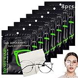 8 pcs Toallitas Antivaho,Paños Microfibra Gafas,Toallitas Antivaho para Gafas,Gamuza de Limpiador para Gafas,Paño Antivaho,Paño de Limpieza Reutilizable para gafas (B)