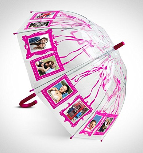 Clippy Foto Regenschirm - Kids Pink: Regenschirm mit 16 Fototaschen