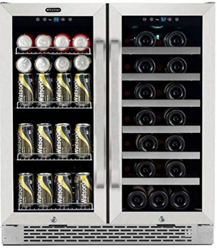 %13 OFF! Whynter BWB-3388FDS 30 Built-In French Door Dual Zone Wine Refrigerator and Beverage Cente...