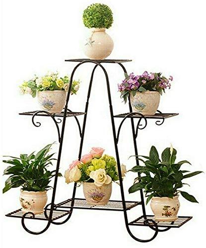 LLYU Blumentopfständer aus Eisen, 6 Etagen, europäischer Stil, Regale für Garten, Garten, Ecke, Balkon, Wohnzimmer