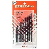 ナチ(NACHI) 丸軸 鉄工用ドリル 10本セット プラスチックケース入り アソート 鉄工ドリル NDS-10