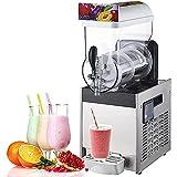 Máquina Asquilosa Comercial 30L, 220V 700W Bebida Congelada Snowcone Slush Maker Machine, Fabricante De Helados Congelados De Acero Inoxidable Margarita...