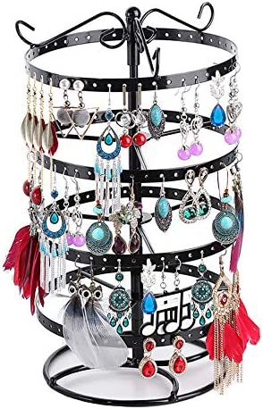 4 Tiers Metal Rotating Earring Organizer Hanger Creatiee Upgraded 176 Holes Exquisite Jewelry product image