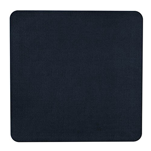 House, Home and More Skid-Resistant Carpet Indoor Area Rug Floor Mat - Navy Blue - 3 Feet X 3 Feet