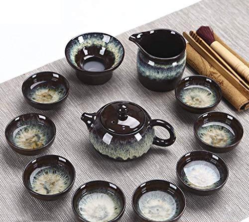 Cafetera Kiln Golden Sand Glaze Ceramic Kung Fu Tea Set Tea