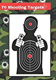 70 Shooting Targets: 8.27' x 11.69' | Silhouette black | firearms, airsoft, BB, rifles, pellet guns , archery |
