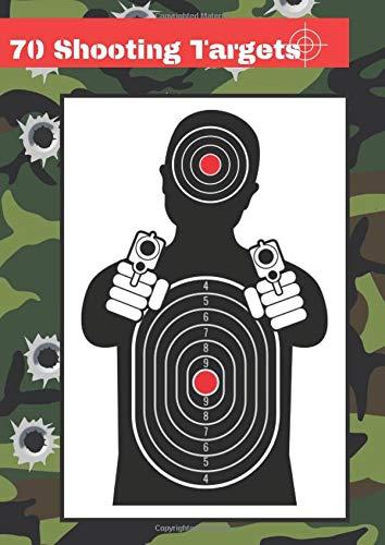 70 Shooting Targets: 8.27' x 11.69' | Silhouette black |...