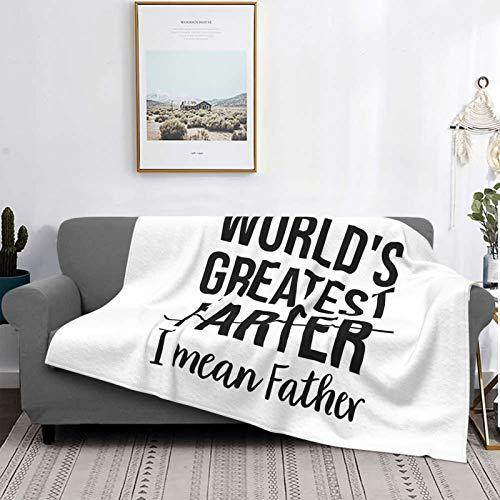 World's Best Farter, I Mean Father Ultra Soft Micro Fleece Flannel Blanket
