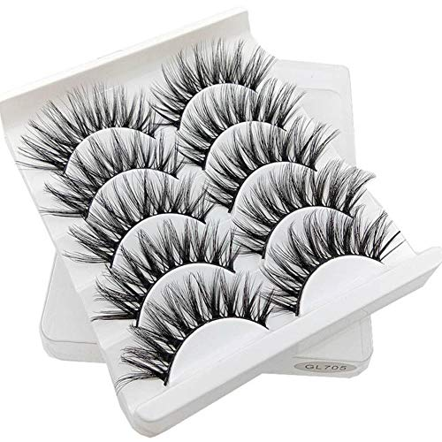 KADIS Mixed Model 3D Eyelashes Long Lasting Lashes Natural False Eyelashes 100% Handmade Fake Eyelashes Beeauty Makeup,GL705