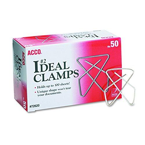 Acco A7072620 Papierklammern, Stahldraht, klein, 3,8 cm, 100 Blatt, silberfarben, 50 Stück pro Box
