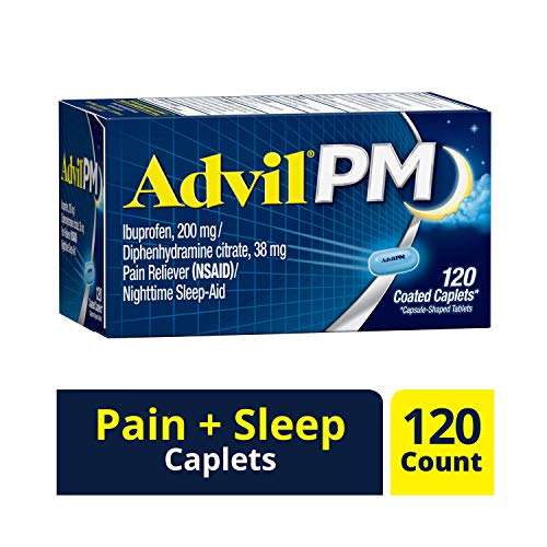 Fall asleep faster & Stay asleep longer (1): Advil PM coated caplets relieve occasional sleeplessness while soothing minor aches and Pains; Don't let pain get in the way of a restful night's sleep Patented, dual layer caplet: Advil PM is the only bra...