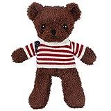 FeiWen Muñeca suéter Teddy Bear Juguetes de Peluche Almohada de Oso Muñeca de Trapo Boda Regalo (marrón)
